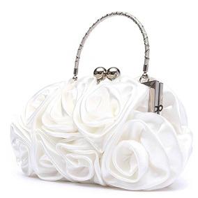 Cartera Rosas Blancas De Fiesta Noche