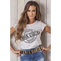 Blusa T-shirt Original Branca Maria Gueixa Ref 4183