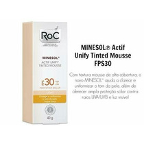 Roc Minesol Actif Unify Tinted Mousse Fps 30 Cor Light 40g