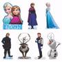 Kit 7 Frozen Display 22cm Mesa E Kit 6 Carros Mdf