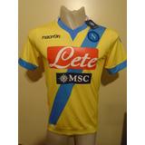 Camiseta Napoli Italia Macron 2013 2014 Higuaín #9 M Nueva