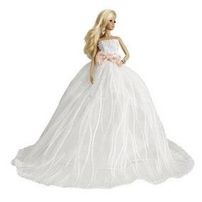 Barbie Princesa Cariño Capilla Tren Vestido De Novia De Tul