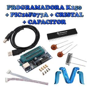 Programador Pic K150 Usb + Pic16f877a + Capacitor + Cristal