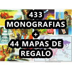 433 Monografias Escolares + 44 Mapas Digital Pdf