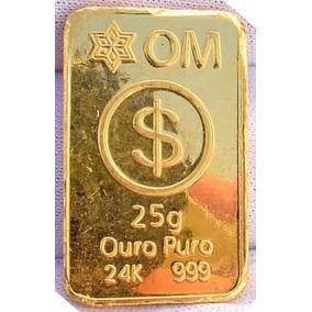 Barra Ouro Puro 24k - 999 -25g Com Certificado De Pureza