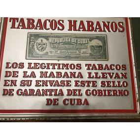 Chapa Habanos Cuba Unica Antes Revolución Fidel Castro 1959