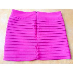 Preciosas Faldas Minifalda, Tela Jeans, Playera, Talle: L