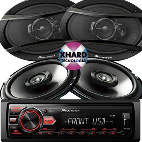 Combo Pioneer Stereo Mvh 085 Ub + 4 Parlantes 6x9 + 6,5 Pulg