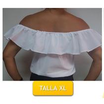 Blusa Tipo Llanera Blanco Crema Sin Manga Talla Xl Calidad