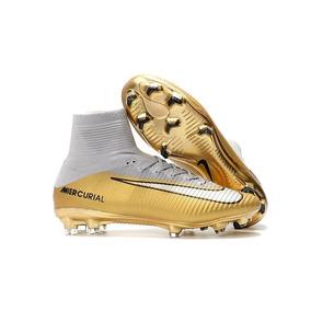 afe954aa75ffb Chuteira Cr7 Rare Gold Nike - Chuteiras no Mercado Livre Brasil