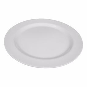 10 Prato Redondo Raso Melamina 25cm Para Restaurantes Buffet