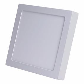 Painel Plafon Quadrad Luminária Sobrepor Led 25w Frio