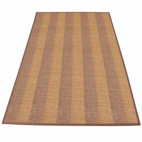 Tapete Passadeira Bambu 1,80x1,20 Decoração Marrom E Bege