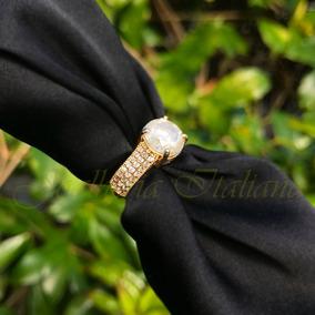 Anel Solitário Em Ouro 18k 750 Com 3,65 Ct De Diamantes