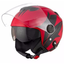 Capacete Moto New Atomic Pro Tork Superbike Black/red