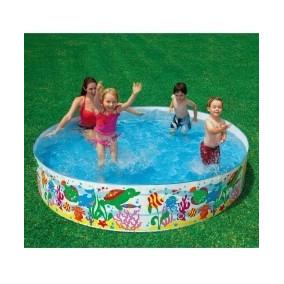 Piscina 2000 Litros Infantil Intex Snapset Ocean Play2 Praia