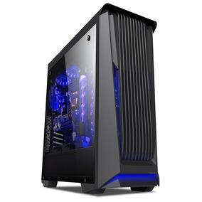 Case Gamer Halion 8803 C/fuente 500w Real Usb3.0 Fanx2 Azul