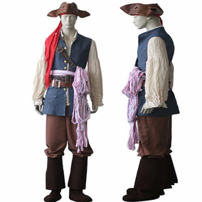 Fantasia Cosplay Jack Sparrow - Piratas Do Caribe.