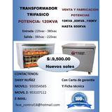 Transformador Trifasico 120kva 380vac A 220vac