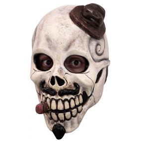 El Catrin Sombrero Craneo Mascara Latex Halloween Disfraz