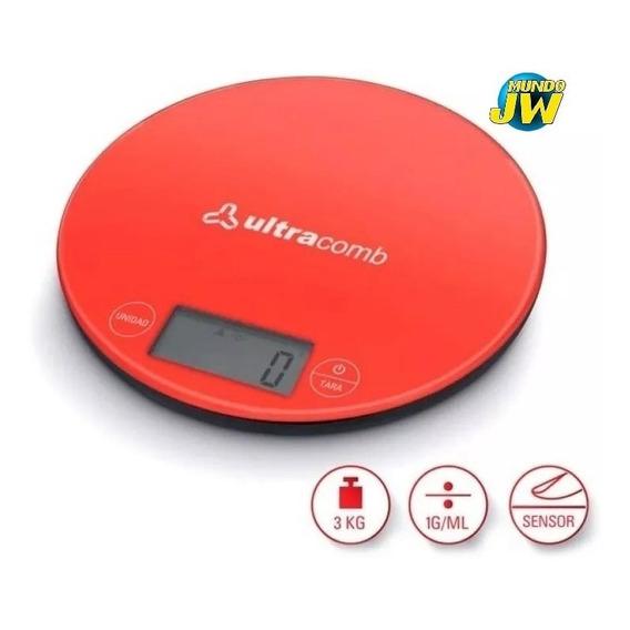 Balanza De Cocina Digital Ultracomb Bl6001 H/ 3 Kilos Slim