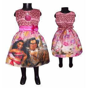 Vestido Sin Mangas Moana Niña Tallas 4 5 6