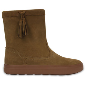 Crocs Originales Lodgepoint Suede Pullon Boot W Marron Mujer