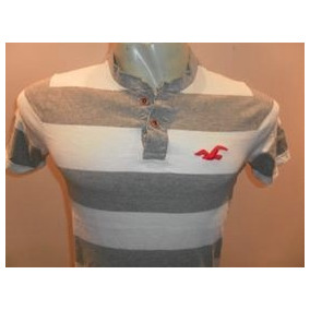 Camiseta Polo Hollister Masculina 100% Original Em Medio