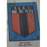 1 Figurita Escudo San Lorenzo Mar Del Plata Anteojito