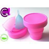 Copa Menstrual X2 Alta Calidad+ Esterilizador+bolsas Promo