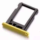 Gaveta Holder Bandeja Chip Nano Sim Card Iphone 5c Amarelo