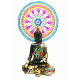 Buda Siddharta Decoración Dorado Negro