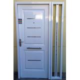 Puerta Chapa Electrocincada Pintura Horno Blanca Un Lateral