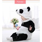 Macacão Infantil Criança Pijama Pelúcia Fantasia Urso Panda