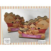 Servilletero Evento Cumple Personalizado Madera Winnie Pooh