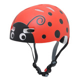 Capacete Kraft Bike Joaninha Vermelha Patins Skate - Esportes e ... 72d83391501
