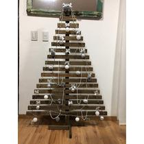 Árbol De Navidad . Madera Vintage . 150x100 Cm .