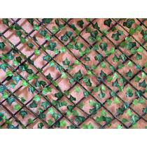 Jardim Vertical Treliça Em Madeira Hera Artificial 1,75 Mts