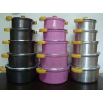 Jogo 5 Uni Panela Aluminio Fundido Grosso 10m Colorida Luxo