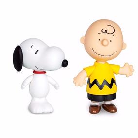 Combo Bonecos Da Grow Peanuts Cão Snoopy E Charlie Brown