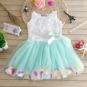 Vestido Tutu Para Niña Con Petalos Niñas Vestidos Princesa