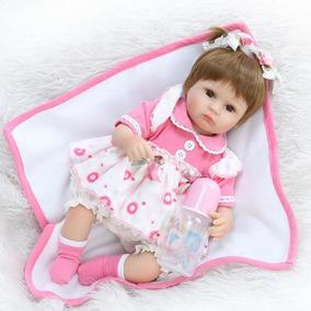 Boneca Grande Bebê Reborn 42 Cm-silicone-presente Páscoa