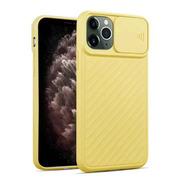 Capa Com Proteção De Lente Para Apple iPhone 11pro Amarela