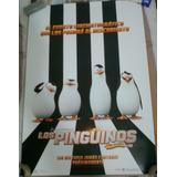 Poster Cine Los Pinguinos De Madagascar