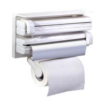 Porta Rolos 3 Suportes Papel Toalha Pvc E Alumínio