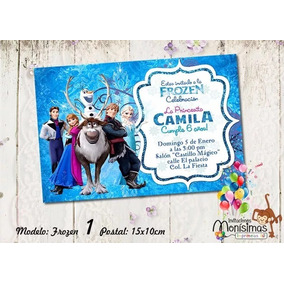 Invitacion Imprimible Personalizada Frozen