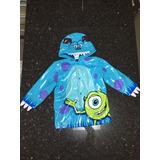 Capa De Chuva Disney Store Tamanho 2/3 Anos Monstros S.a.