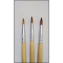 Pincel Para Unha Acrigel Porcelana N°4 N°6 N°8
