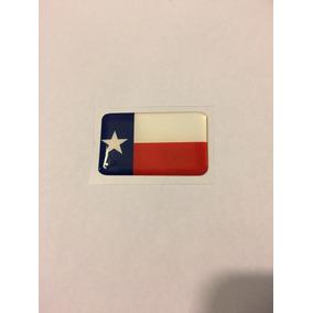 Adesivo Resinado Da Bandeira Do Texas 5x3 Cm