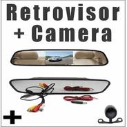 Espelho Retrovisor Tela Lcd 4,3 Camera De Ré Estacionamento